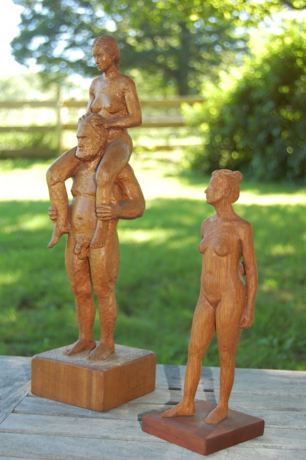 Carved figures in wood from Steve Lindsay's talk