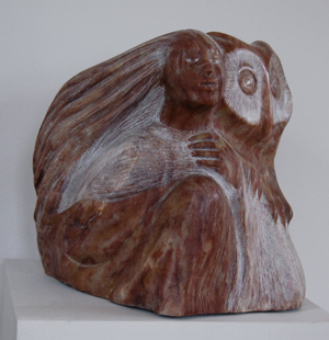 WOMAN WITH OWL - Lise Becu